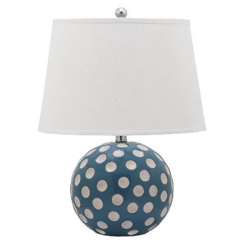 Safavieh Red and White Polka Dot Circle Table Lamp