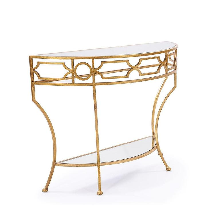 Caterina Gold Console Table