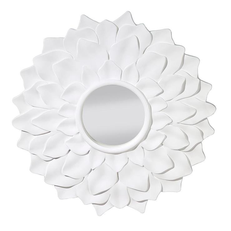 Hi gloss white decorative mirror for Fancy white mirror