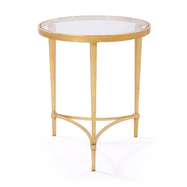 Spencer gold side table for Round gold side table
