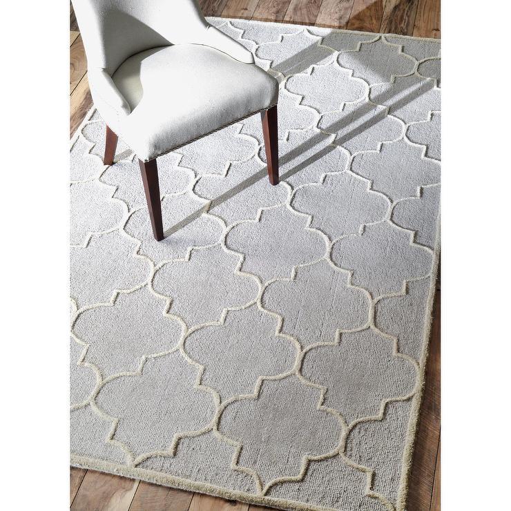 nuLOOM Contemporary Trellis Wool Silver Rug