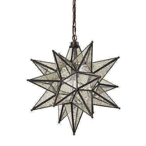 Mercury glass star pendant moravian mercury glass star pendant mozeypictures Choice Image