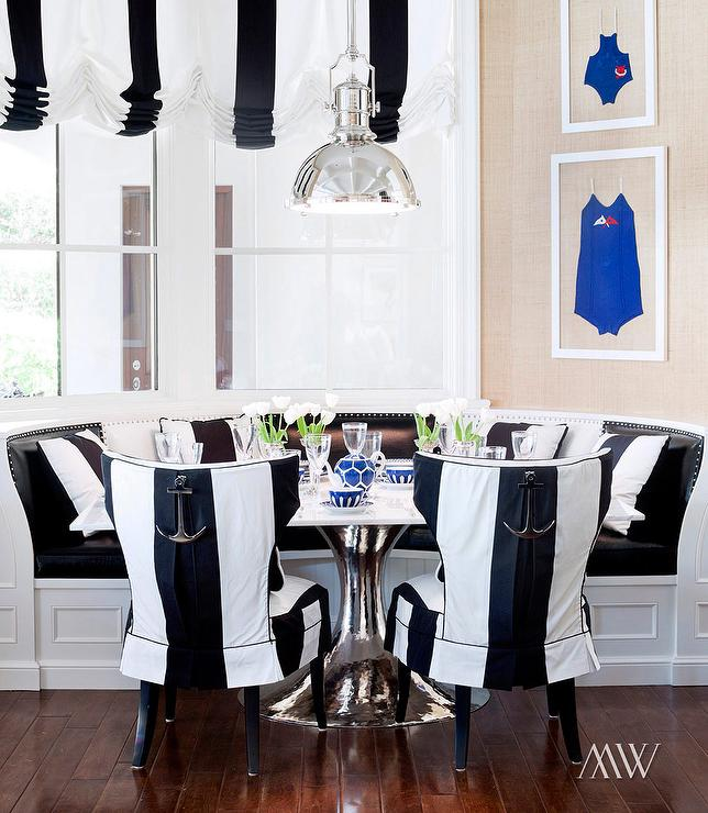 Black And White Breakfast Nook View Full Size