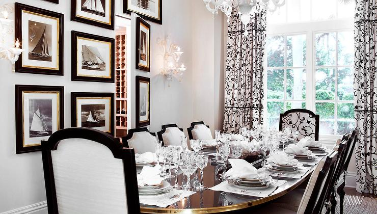 Bon Dining Room With Secret Wine Room