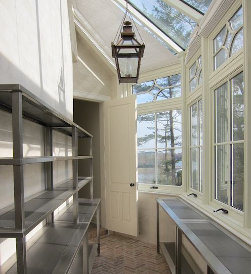 Butlers Pantry With Lots Of Windows Transitional Kitchen