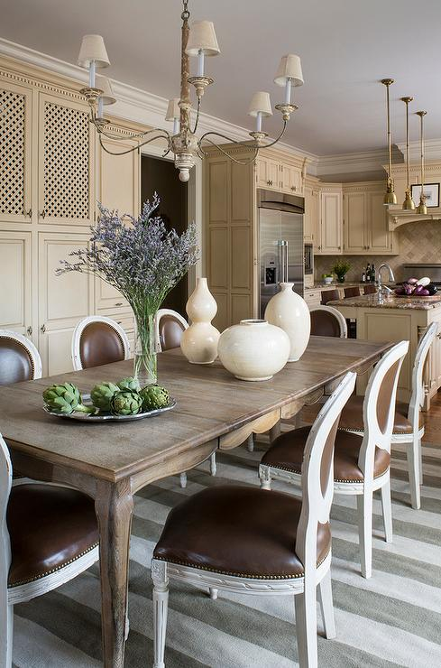 Round back dining chairs design ideas for French dining room