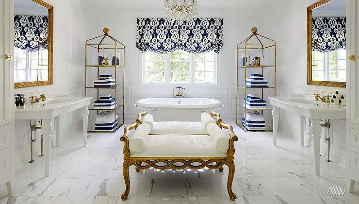 white and gold bathroom ideas navy and gold bathrooms contemporary bathroom 24601