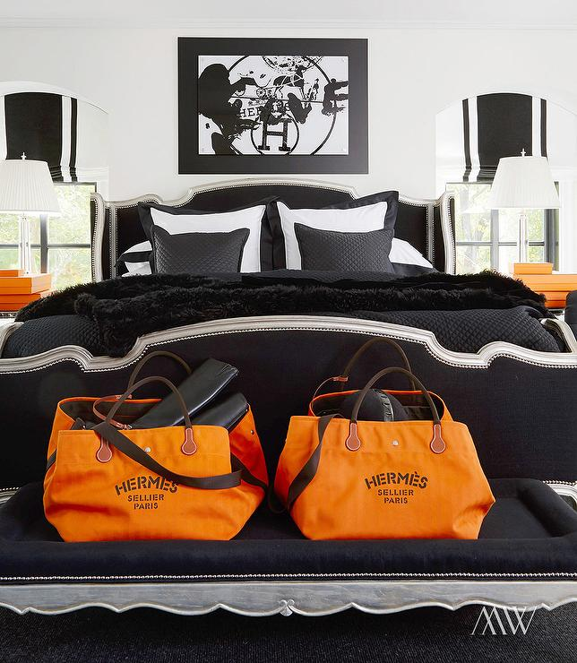 Black And Orange Bedroom orange and black bedrooms - contemporary - bedroom