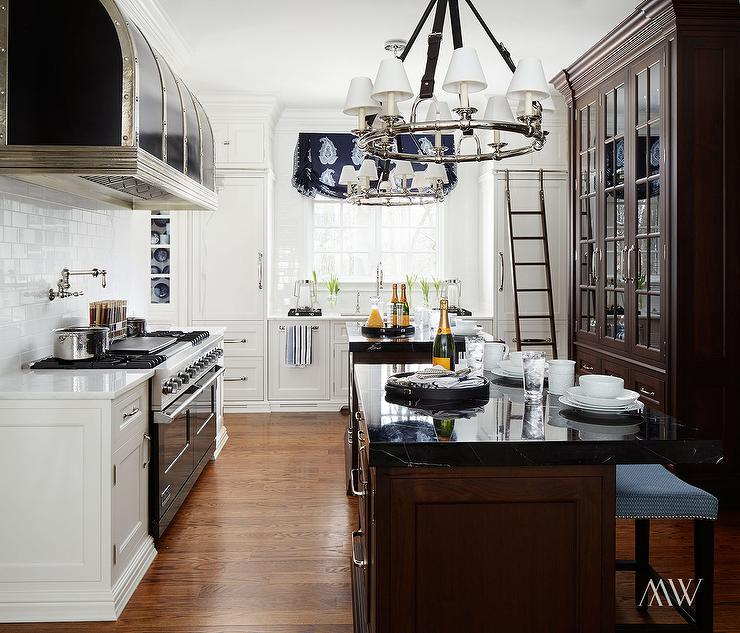 Ralph Lauren Westbury Chandelier Transitional Kitchen