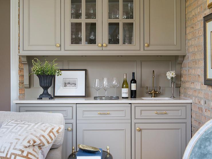 Wet bar cabinets cabinets showplace cabinetry creates a distinctive wine cave and wet bar with - Wet bar cabinets ...