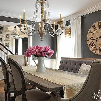 Paint gallery all paint colors and brands design for Dark grey dining room