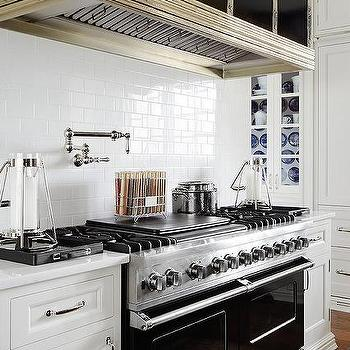 Black Range Hood Contemporary Kitchen Domino Magazine