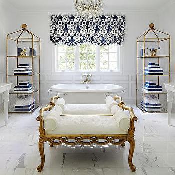 gold and navy master bathrooms design ideas