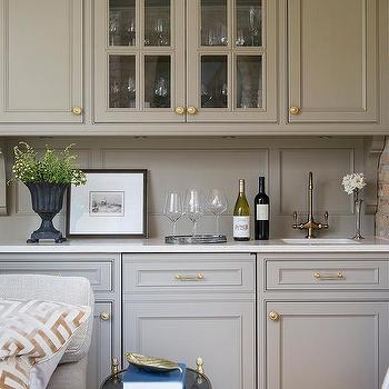 Gray Bar Cabinets Gold Hardware Design Ideas - Hardware for grey cabinets