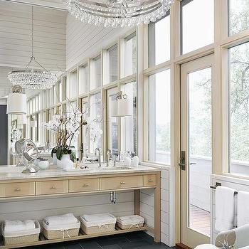 Master bathroom robert abbey bling chandelier design ideas bathroom with slate tile floor aloadofball Image collections
