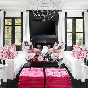 Pink And Navy Rooms