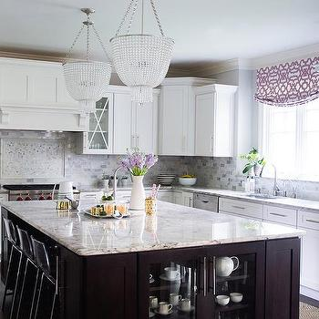 Gray And White Granite Countertops Transitional Kitchen