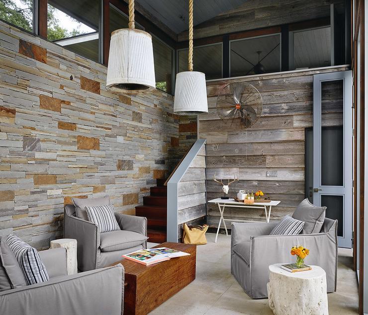 Modern Sunroom: Planked Sunroom