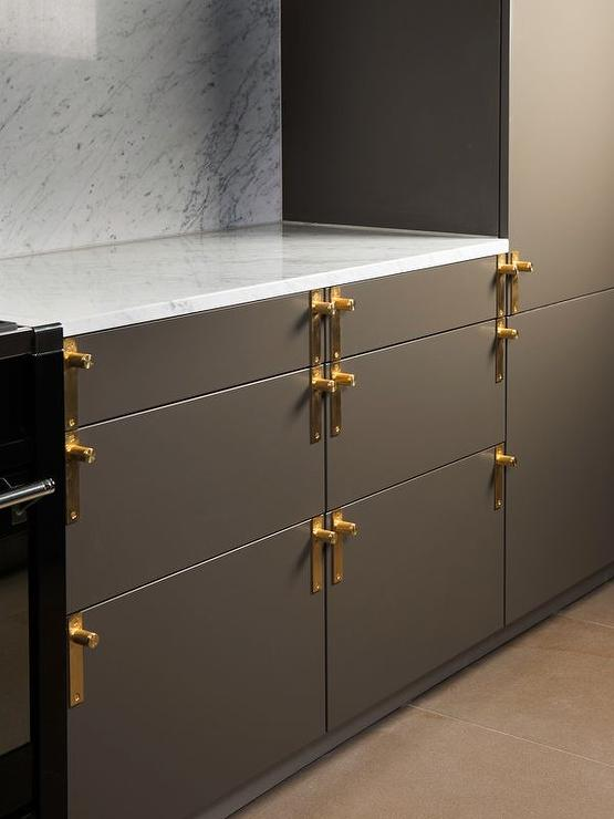 White Cabinets With Brass Hardware Design Ideas
