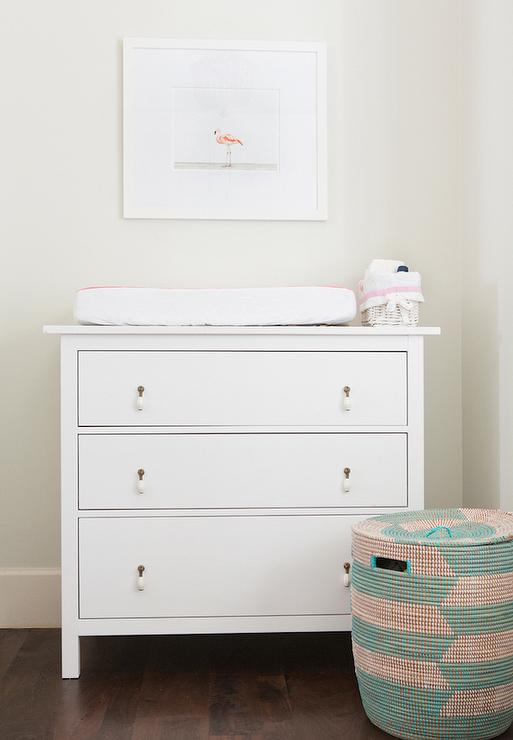 Nursery With Ikea Hemnes 3 Drawer Chest