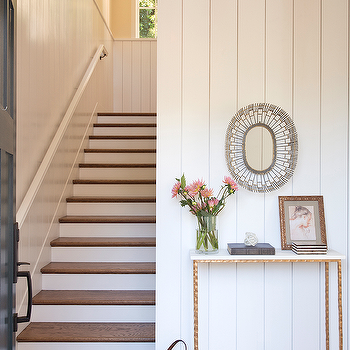 Brass And Marble Foyer Table