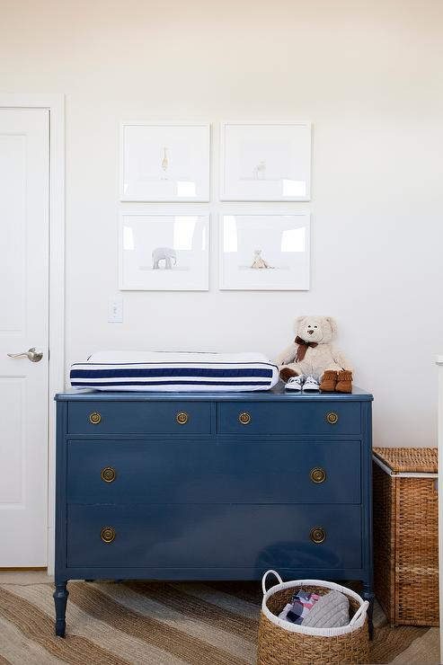 Blue Changing Table Dresser