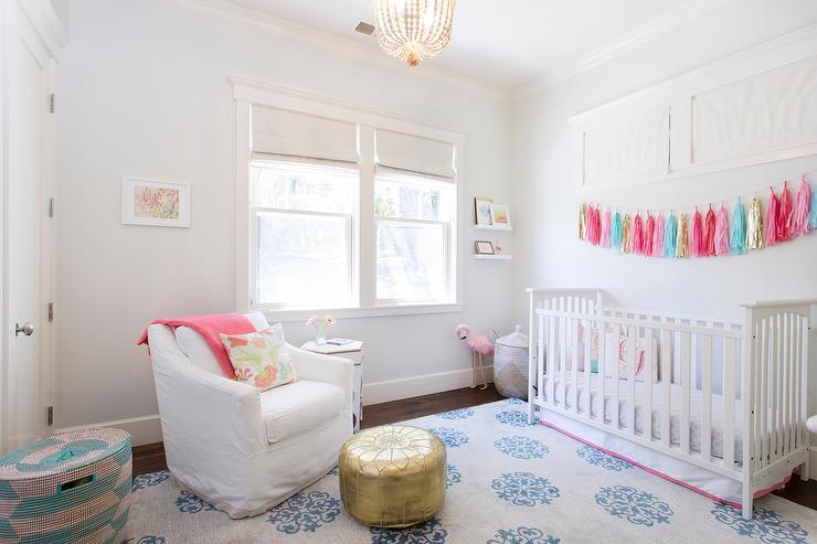 beautiful Tassel Garland Nursery Part - 2: Tassel Garland Over Crib