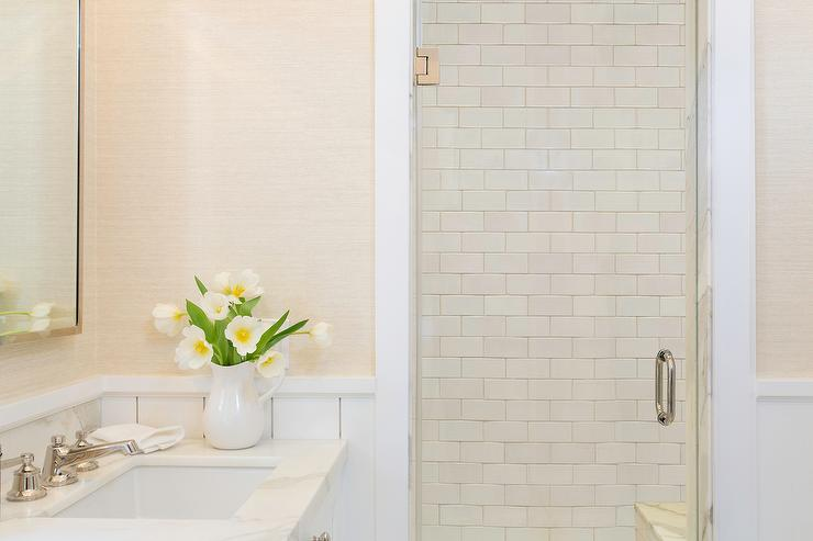 view full size transitional bathroom - Rectangular Bathroom Tiles Horizontal Or Vertical