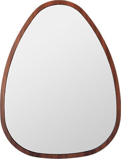 Brown Wall Mirror brown wood cutout wall mirror