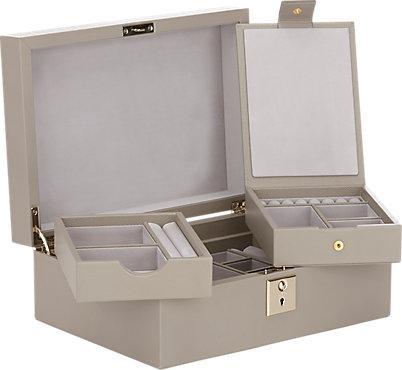 396e992e1b7b Smythson Panama Beige Jewelry Box