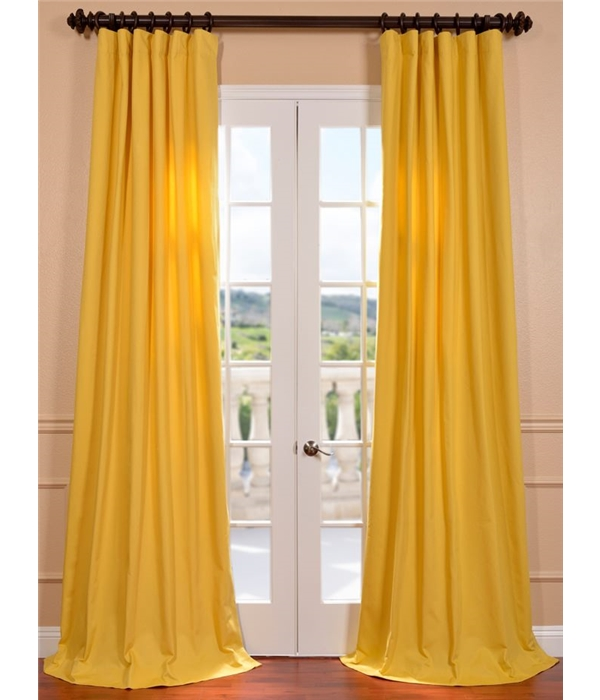Living Room American Tradition Mustard Yellow Cotton Twill Curtain  Mustard Yellow Curtains
