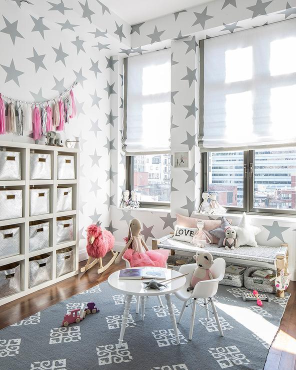 Gray Girl Nursery Contemporary Nursery