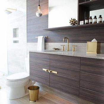 Brown Laminate Floating Vanity