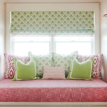 Pink And Green Window Seat