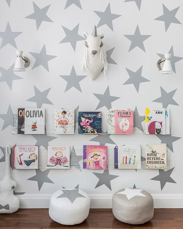 nursery with acrylic bookshelves - Acrylic Bookshelves