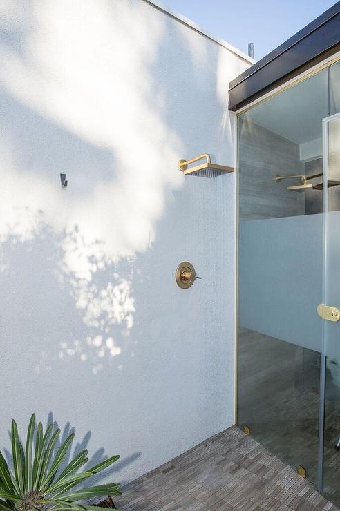 Teak Outdoor Shower Kit