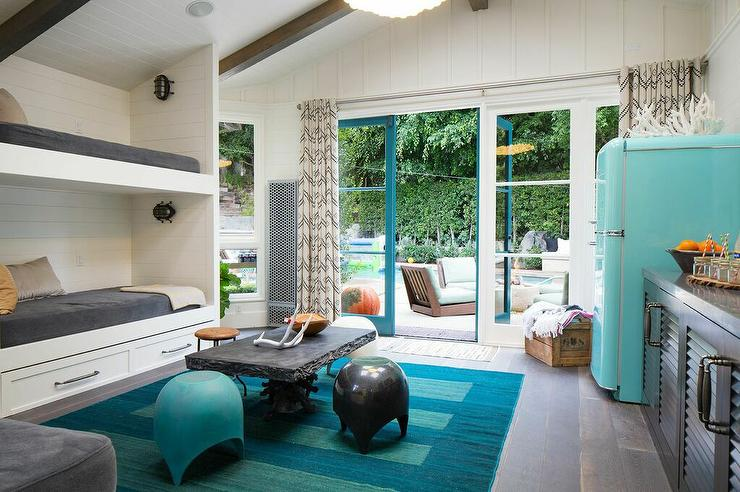 Pool House With Bunk Beds Cottage Bedroom