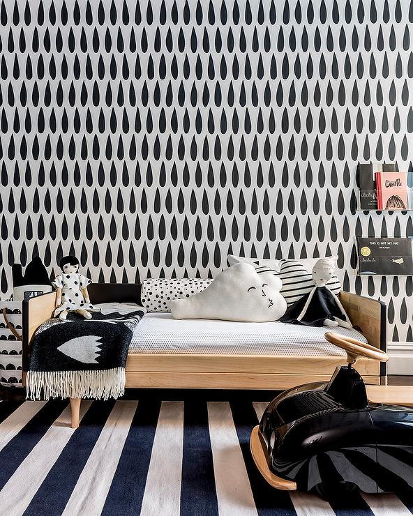 Black And White Nursery Contemporary Boys Room