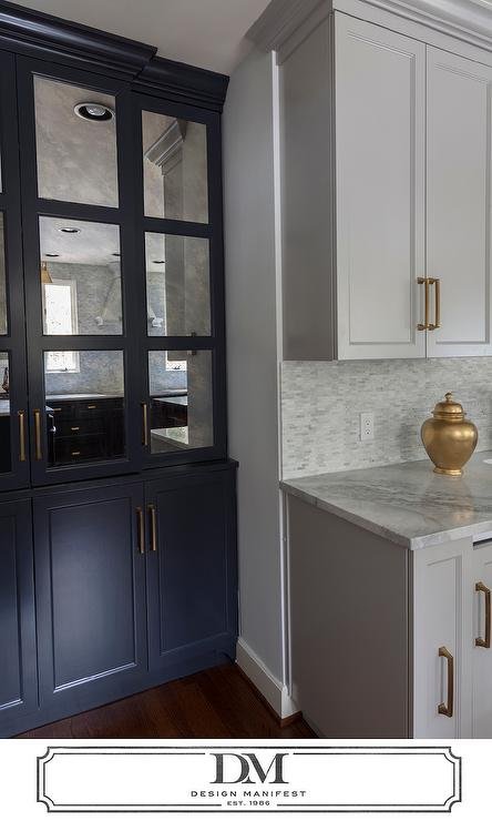 Dark Grey Cabinets Gold Pulls Design Ideas - Dark grey kitchen doors