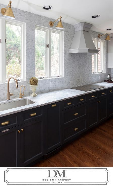 Pleasing Dark Grey Cabinets Gold Pulls Design Ideas Download Free Architecture Designs Scobabritishbridgeorg