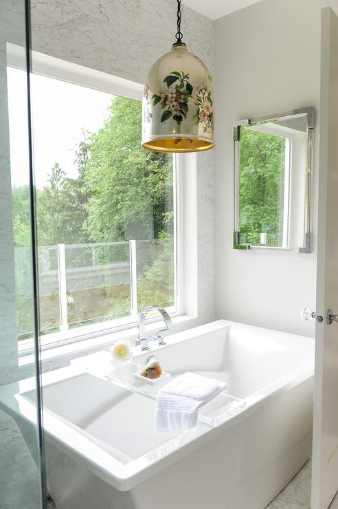 tub below picture window transitional bathroom rh decorpad com