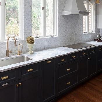 Dark Kitchen Cabinets With Gold Hardware