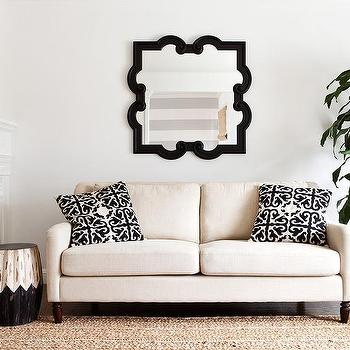 Ivory Sofa With Black Pillows View Full Size. Transitional Living Room ...