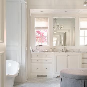 Traditional bathroom design ideas for Master bathroom ottoman