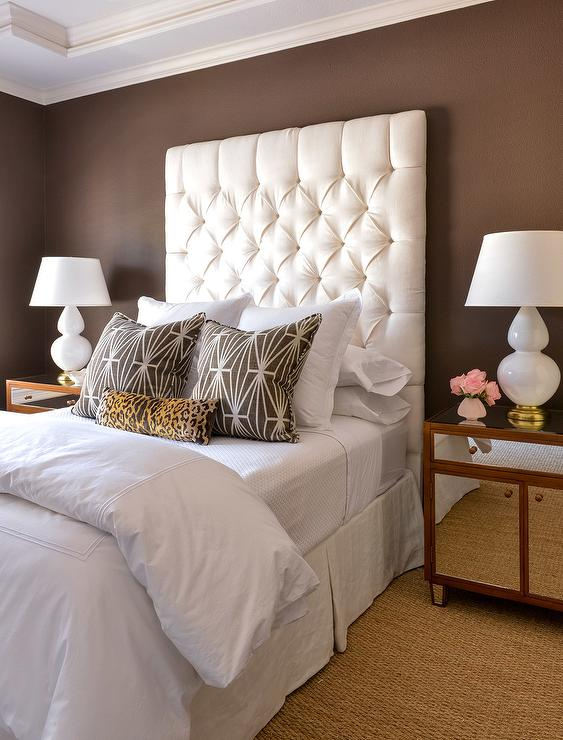 White and Brown Bedrooms - Transitional - Bedroom
