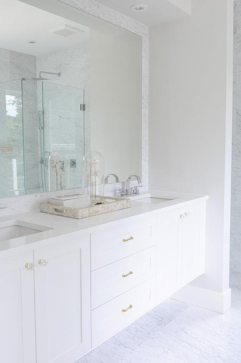 Lucite Hardware Transitional Bathroom Laura Tutun