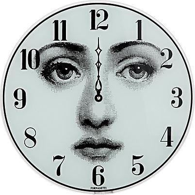 Fornasetti viso black and white wall clock - Fornasetti faces wallpaper ...