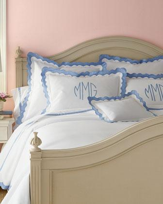 Blue And White Matouk Paloma Bedding And Lowell Sheets