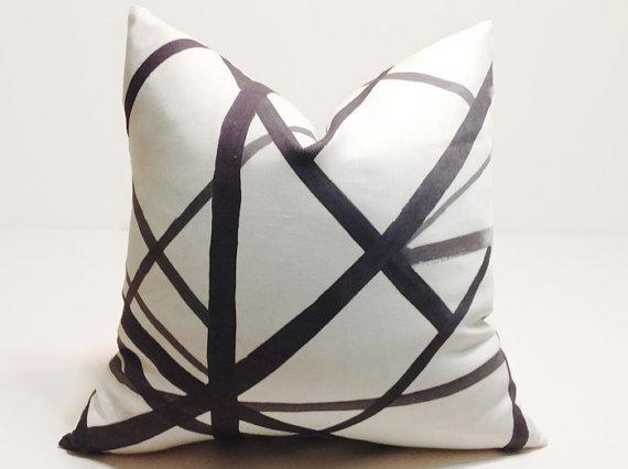 black and white line decorative pillow cover - Black And White Decorative Pillows