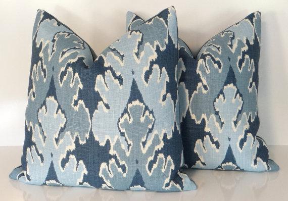 Kelly Wearstler Bengal Bazaar Teal Pillow